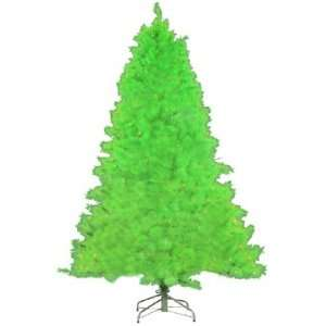 Lit Lime Green Cashmere Pine Artificial Christmas Tree   Green Lights