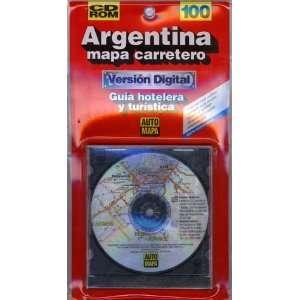 Rutas de la Argentina (CD ROM) (9789879681305) Auto Mapa Books