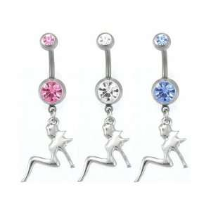 Mud Flap Girl Gem Belly Ring Mixed CZ Stones: Jewelry