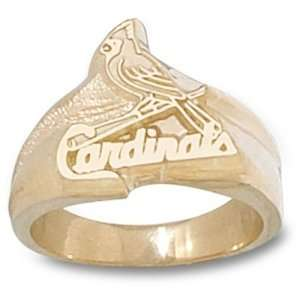 St. Louis Cardinals MLB Bird On Bat 9/16 Ring Sz 11 (14kt