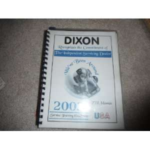 2003 Dixon Service Training for ZTR Mowers dixon industries Books