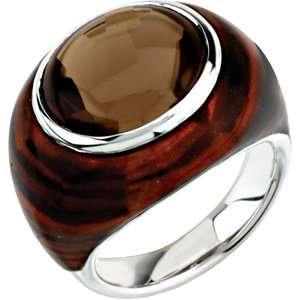 Genuine IceCarats Designer Jewelry Gift Sterling Silver Gen Smoky Qrtz