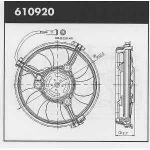98 01 VW PASSAT A/C Condenser Cooling Fan Shroud Assembly (1998 98