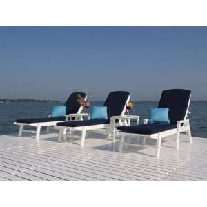 Nautical Pool Recycled Plastic Patio Lounge Set Patio, Lawn & Garden