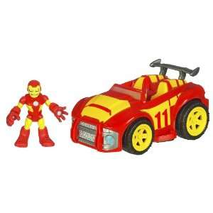 Playskool Super Hero Adventure   Race Car With Iron Man Toys & Games