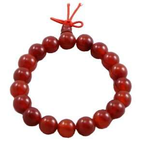 Red Jade Prayer Beads Wrist Mala Arts, Crafts & Sewing