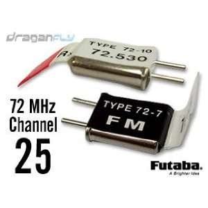 Channel 25 Crystal Set 72MHz FM Radio Receiver + Transmitter Crystals