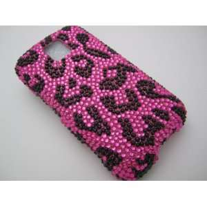 PINK LEOPARD Hard Plastic Bling Rhinestone Case for LG