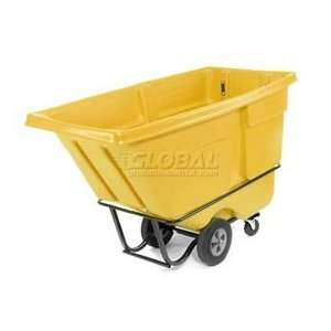 Rubbermaid Standard Duty 1/2 Cu. Yd. Garbage & Trash Yellow Tilt Truck