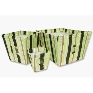 Giggle Bedding Sets matching storage bins   Stripe Pattern