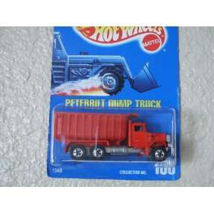 Vintage Hot Wheels   Peterbilt Dump Truck   Red   Front Wheels Black