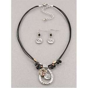 Fashion Jewelry Desinger Inspired Multi Color Circle Necklace and