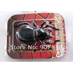 ems solar spider toys solar energy powered spider insect fun toy gift