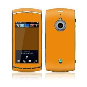 Simply Orange Design Decorative Skin Decal Sticker for Sony