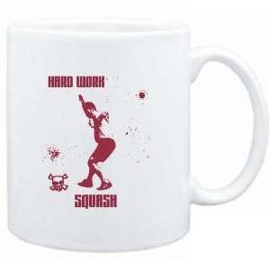 Mug White  HARD WORK Squash  Sports Sports & Outdoors