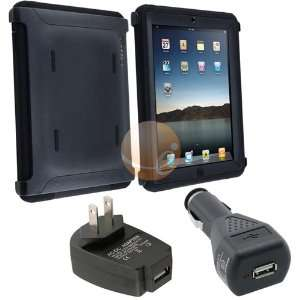 Black Otterbox Defender Case [OEM] + Black USB Car Charger