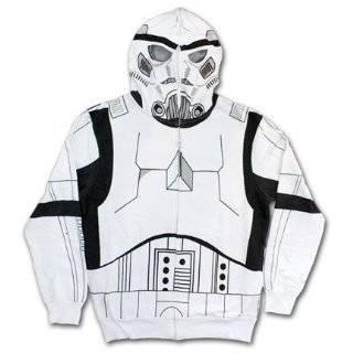 Star Wars Storm Trooper Costume Mens Zip Hooded Sweatshirt