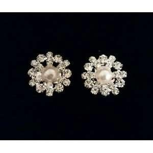 Wedding Shoe Clips Rhinestone Crystal Pearl Flower Bridal