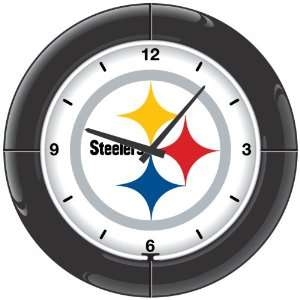 NFL Pittsburgh Steelers Everbrite Neon Wall Clock  Sports