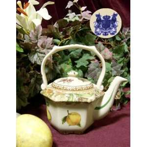 Beautiful Teapot with Fruit Design: Home & Kitchen