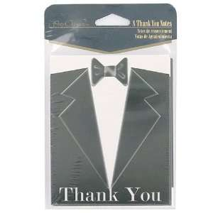 Packs of black tie 8 count thank you notes/envelopes
