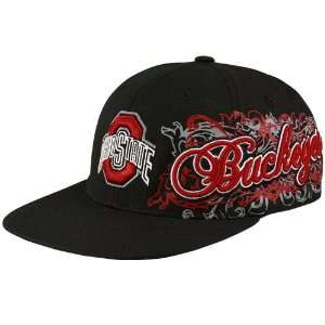 Top of the World Ohio State Buckeyes Black Rogue 1Fit Hat