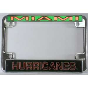 University of Miami The U Hurricanes Chrome Motorcycle License Plate