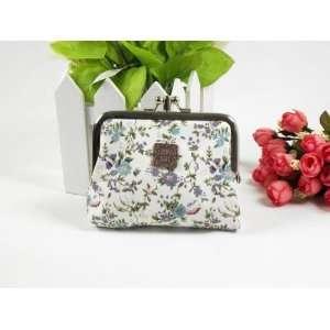 Vintage Floral Victorian Style Double Pockets Coin Purse Mini Bag