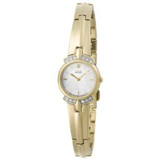 Swarovski Crystal Accented Gold Tone Watch Silhouette Watches