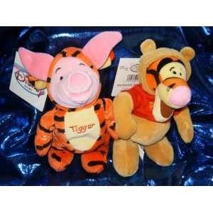 Winnie the Pooh Tigger and Piglet 7 Plush Beanie Set Toys & Games
