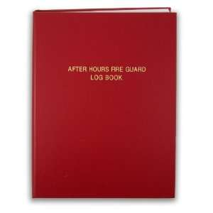 BookFactory® After Hours Fire Guard Log Book   168 Pages