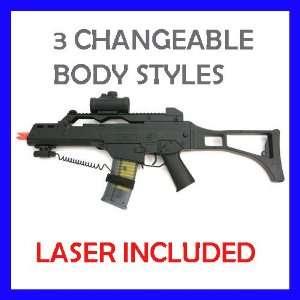 Airsoft Gun M41 Spring Assault Rifle w/Laser 300 FPS M41