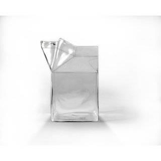 Half Pint Creamer Glass Mini Milk Carton