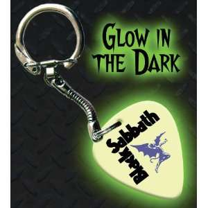 Black Sabbath Glow In The Dark Premium Guitar Pick Keyring
