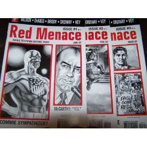 Red Menace #1,2 & 3. 3 issue run (Unmasked)