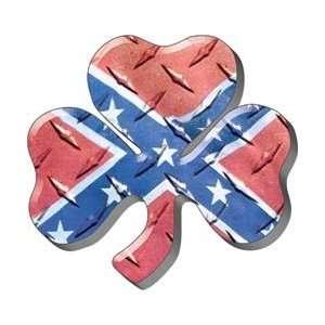 Rebel Confederate Flag Shamrock Firefighter Decal REFLECTIVE