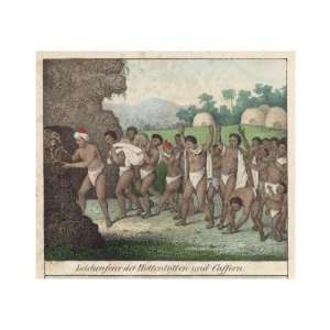 Cremation Ceremony of the Hottentots and Kaffirs, Southern