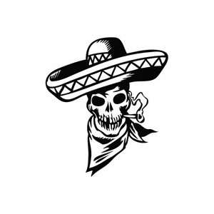Skull Cowboy Smoke   Tribal Decal Vinyl Car Wall Laptop Cellphone