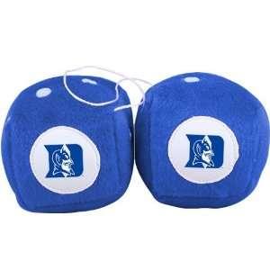 Duke Blue Devils Plush Team Fuzzy Dice Automotive
