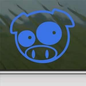 PIG NINJA ANIMAL PET Blue Decal Car Truck Window Blue