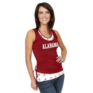 NCAA Alabama Crimson Tide Ladies Crimson Scrimmage Double Layer