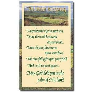 Irish Blessing Holy Prayer Card May the Road Rise Up to Meet 3 by 5