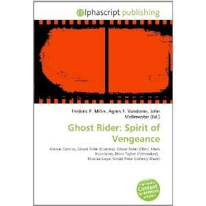 Ghost Rider Spirit of Vengeance (9786134052641) Books