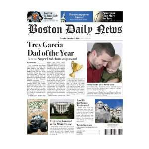 Personalized Fake Newspaper Page   Best Dad Everything Else