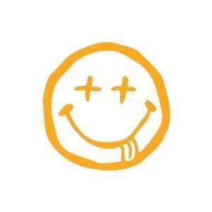 Nirvana Smiley GOLDEN YELLOW Vinyl window decal sticker