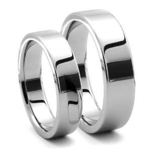 His and Hers PIATTO Tungsten Wedding Ring Set: Jewelry
