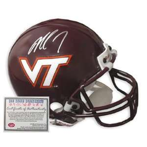 Michael Vick Hand Signed Autographed Mini Replica Virginia Tech Helmet