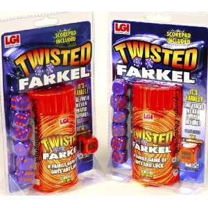 TWISTED Farkel _ Bundle of 2 Identical Games (New 2011 Release) : Toys