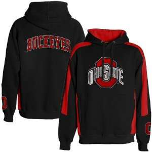Ohio State Buckeyes Black Spiral Hoody Sweatshirt: Sports