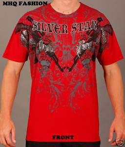 NWT Silver Star UFC MMA T Shirt AK47 Premium Tee Red Md